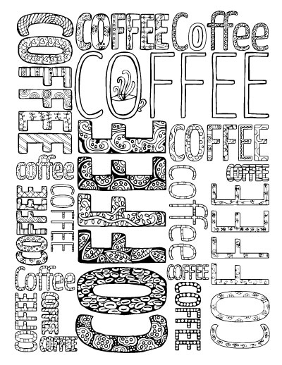 400x518 Adult Coloring Pages For Coffee Lovers