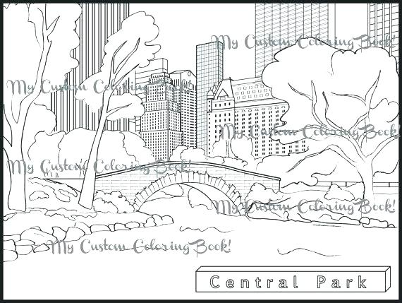 570x429 New York Flag Coloring Page