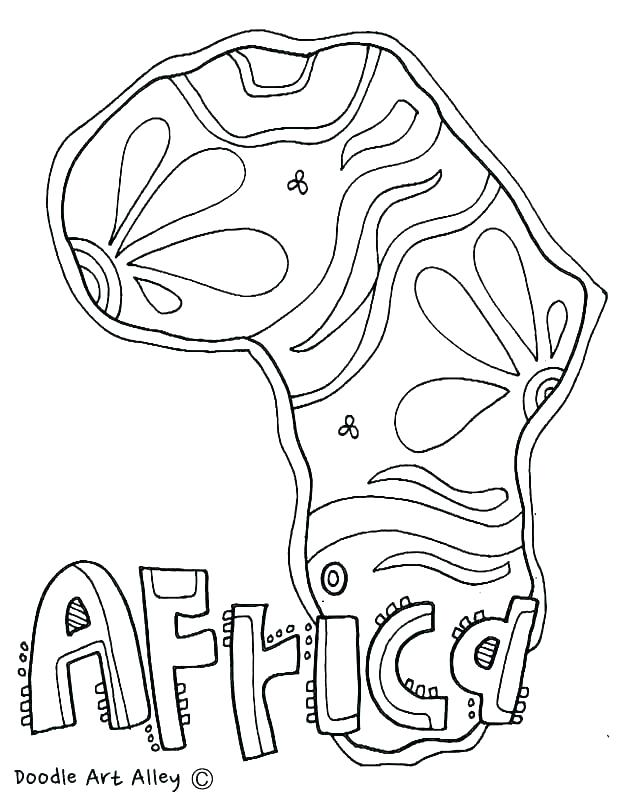 618x800 Africa Flag Coloring Page African Flag Colouring Page
