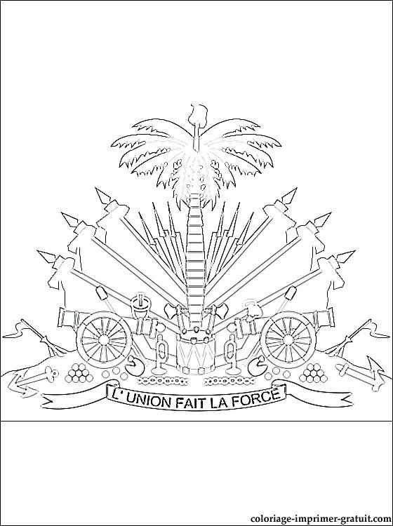 560x750 Haiti Flag Coloring Page
