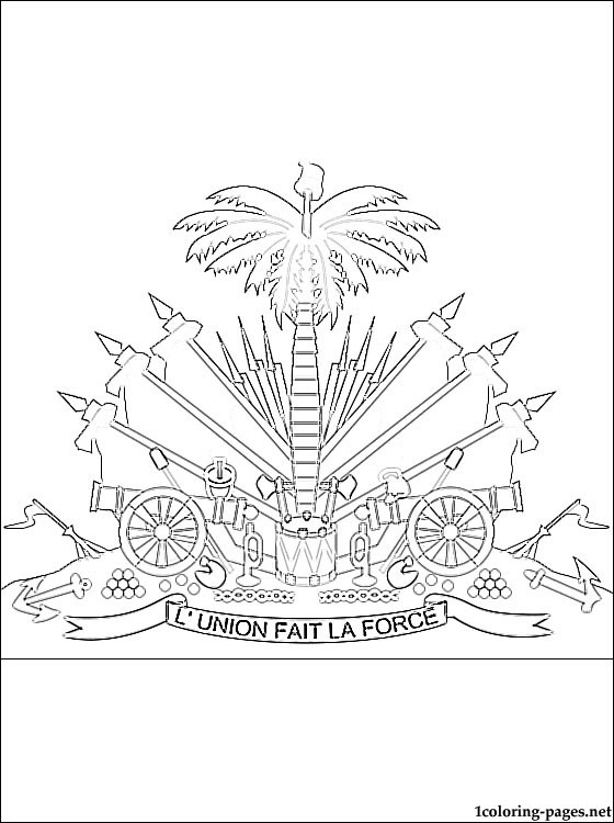 560x750 Haiti Coat Of Arms Coloring Page Coloring Pages