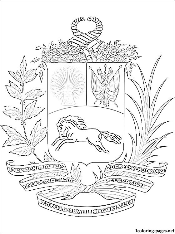 560x750 Coat Of Arms Coloring Sheet