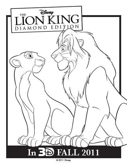 412x534 The Lion King {printable Activities + Coloring Sheets} Spanglishbaby