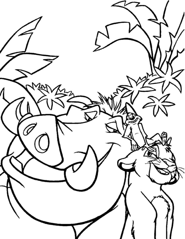 766x990 Timon And Pumbaa Hakuna Matata Coloring Page Image