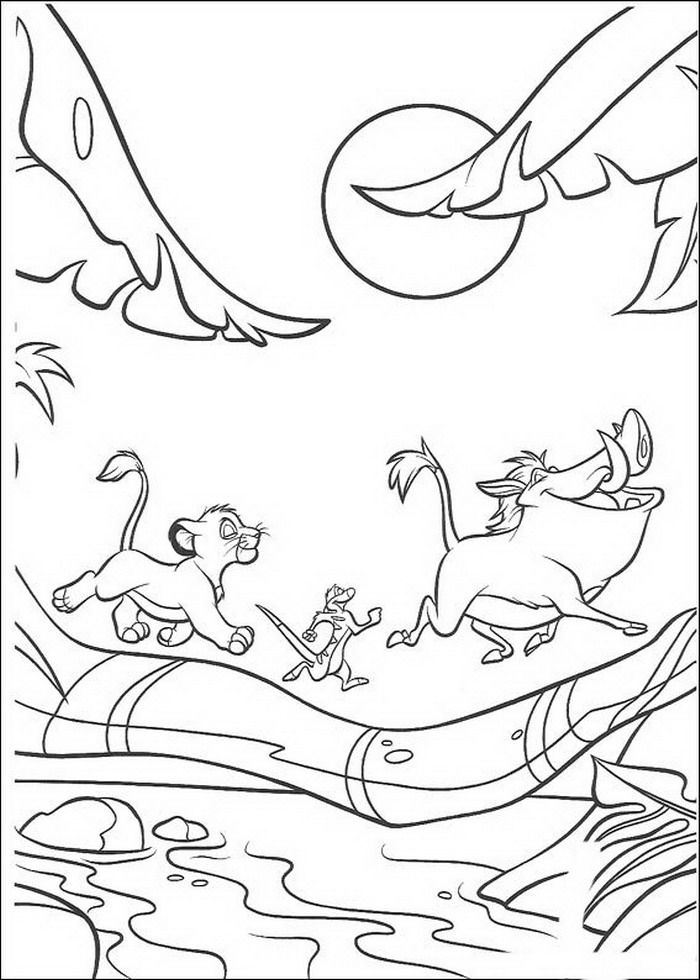 700x980 Kleurplaat Lion King Of De Leeuwenkoning