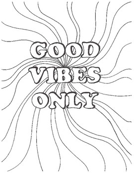 270x350 Good Vibes Only Coloring Page