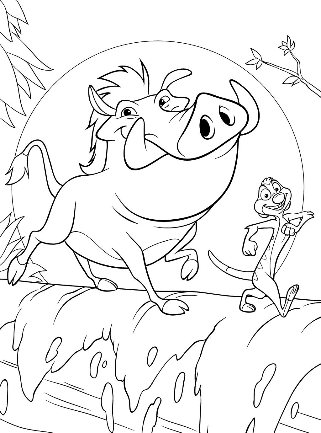 1024x1380 Hakuna Matata Coloring Pages Timon And Pumbaa