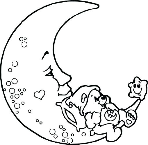 509x500 Crescent Moon Coloring Page Medium Size Of Moon Coloring Pages