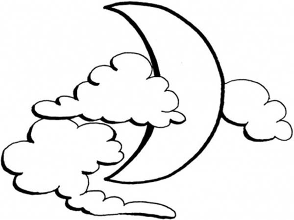 600x449 Half Moon Coloring Pages