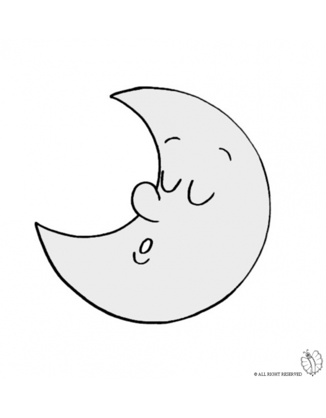 660x847 Coloring Page Of Half Moon Colored For Kids