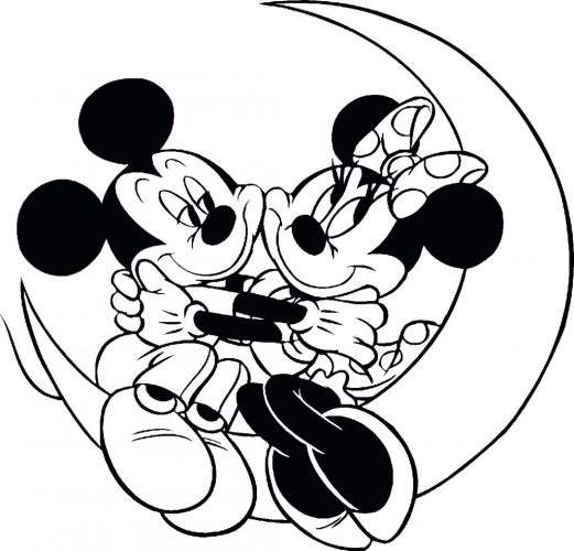 521x500 Coloring Page Coloring Pages Minnie Mouse Mickey And Sitting