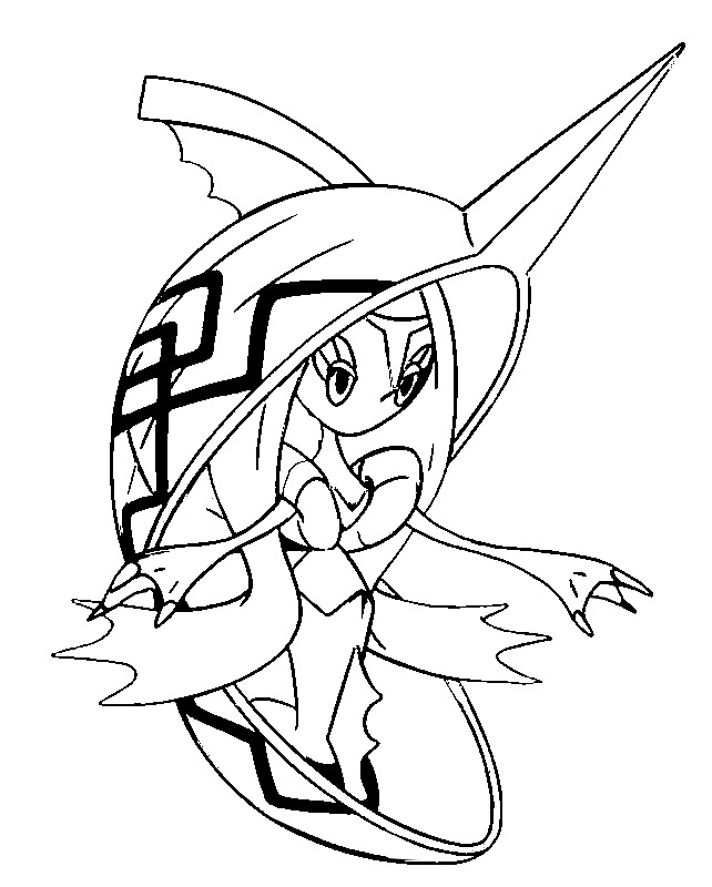 642x800 Coloring Page Pokemon Sun And Moon Tapu Fini