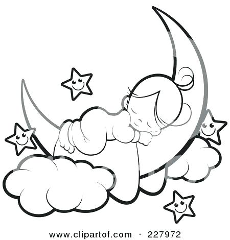 450x470 Crescent Moon Coloring Page Crescent Moon Coloring Page Moon