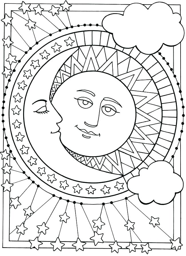 650x893 Crescent Moon Coloring Page Crescent Moon Coloring Page Sun