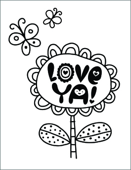 265x343 Free Printable Valentine's Day Coloring Pages Hallmark Ideas