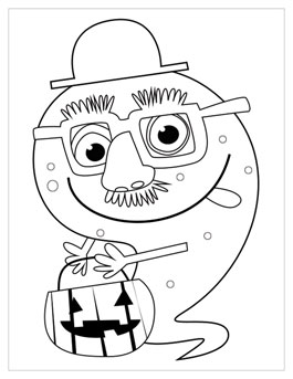 265x343 Halloween Coloring Pages Hallmark Ideas Inspiration
