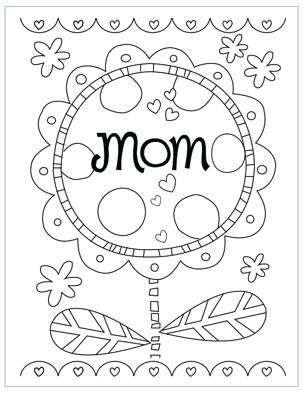 612x792 Free Printable Mothers Day Coloring Pages Mothers Day Coloring