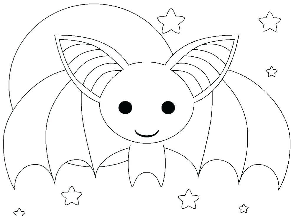 987x735 Cute Bat Coloring Pages Halloween Bat Colouring Sheets Coloring