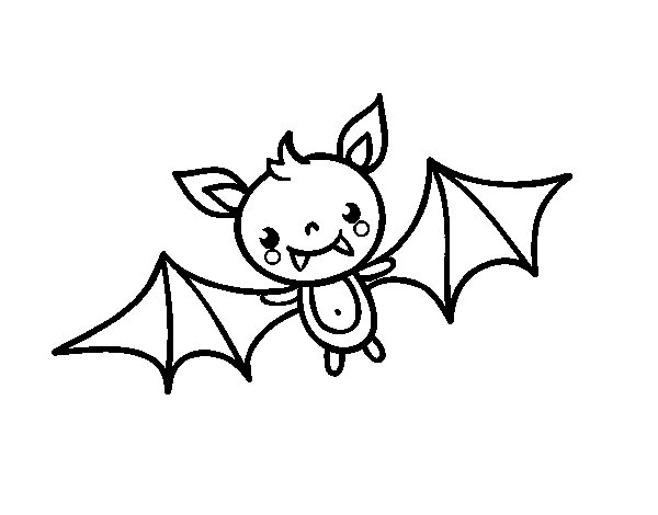 600x470 A Halloween Bat Coloring Page