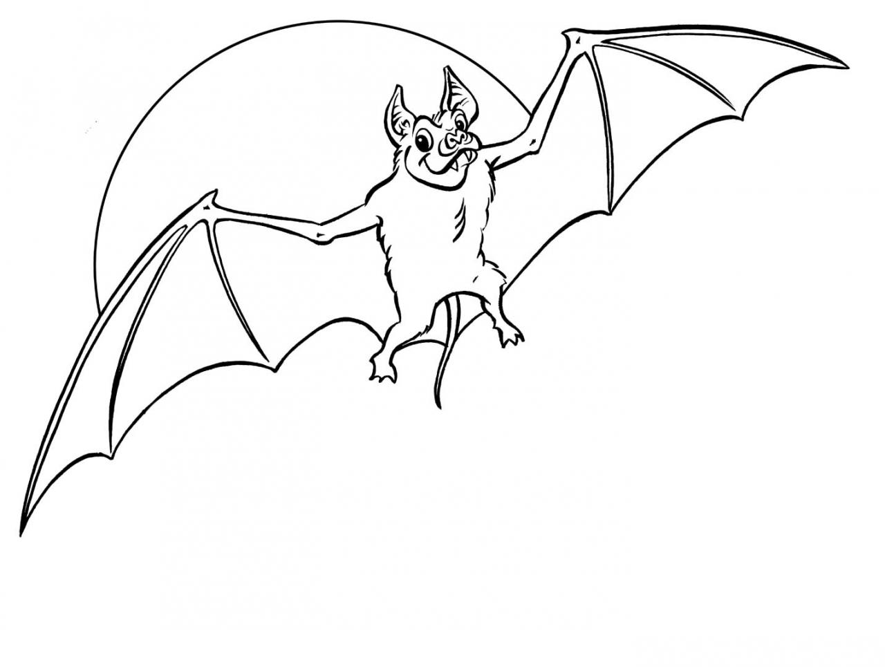 1280x965 Halloween Bat Coloring Pages Coloring Page For Kids Kids Coloring