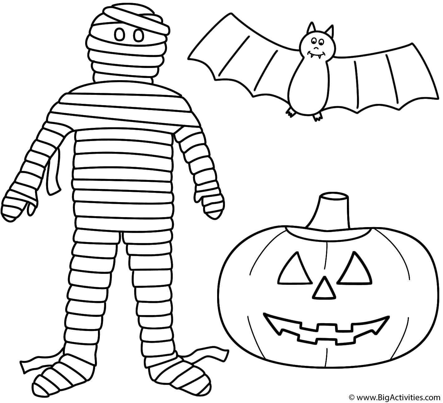 1420x1292 Mummy With Pumpkinjack O Lantern And Bat