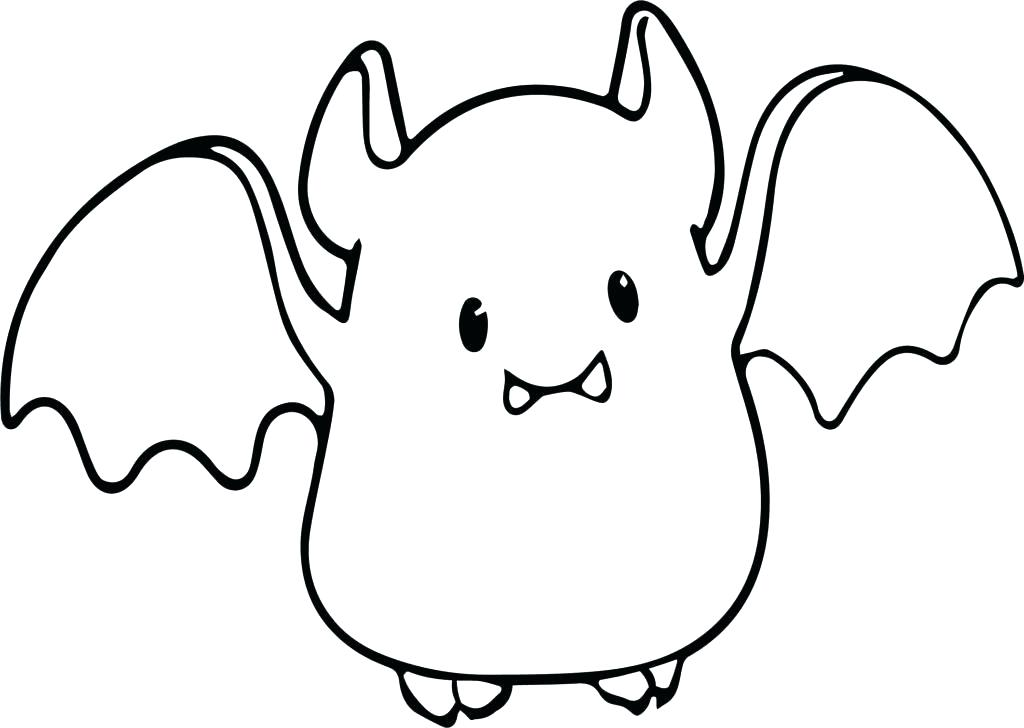 1024x728 Bat Coloring Pages Bat Coloring Page Small Cute Baby Cartoon