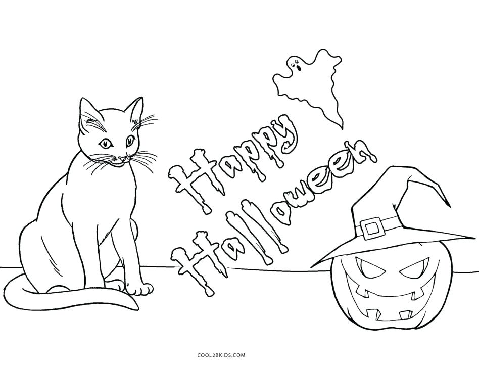 948x722 Halloween Cat Coloring Pages Cat Halloween Hello Kitty Coloring
