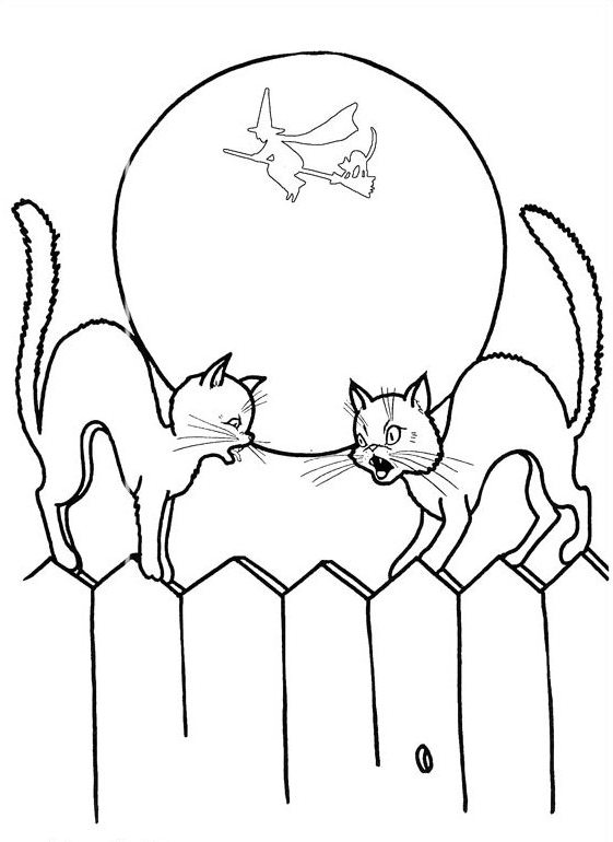561x770 Halloween Coloring Pages Black Cat