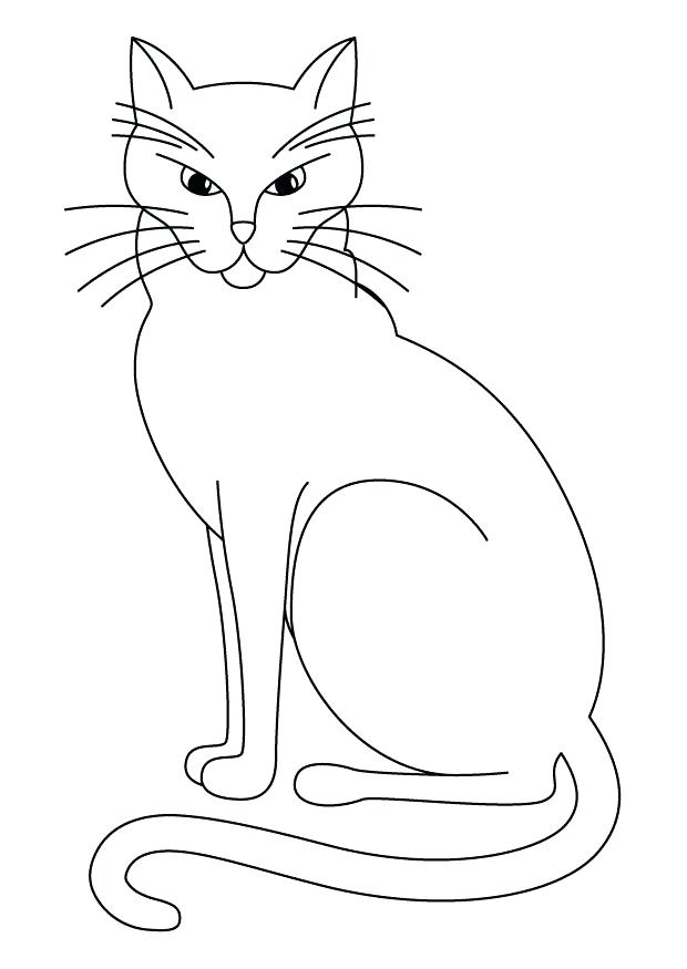 620x875 Printable Halloween Black Cat Coloring Pages Page
