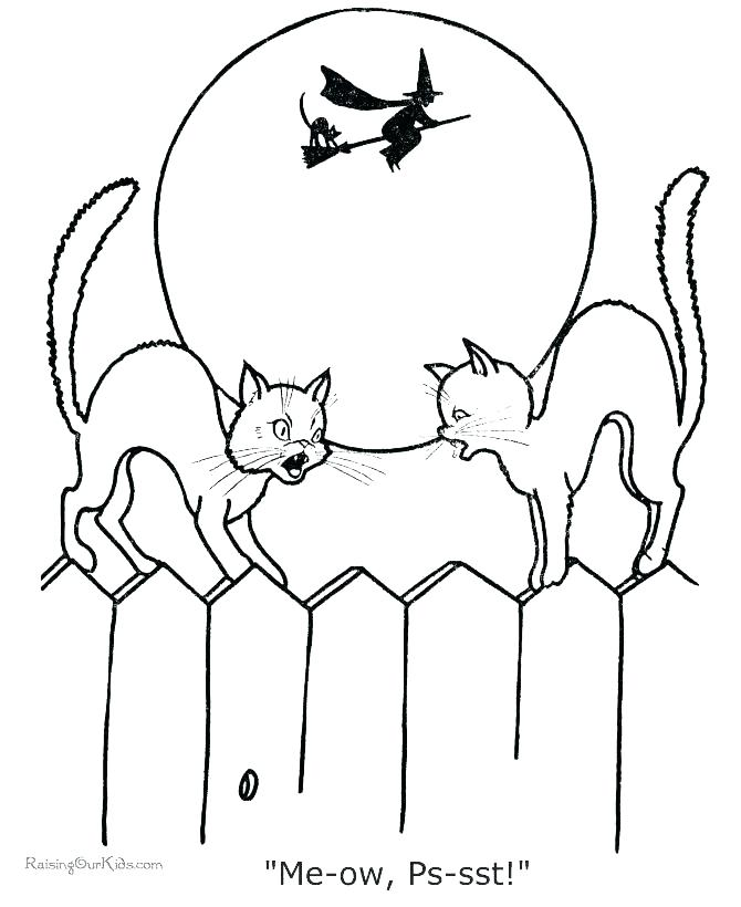670x820 Black Cat Coloring Pages Cat Coloring Pages Free Printable Cat