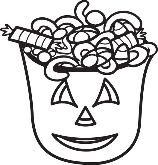 528x550 Halloween Candy Bucket Coloring Pages