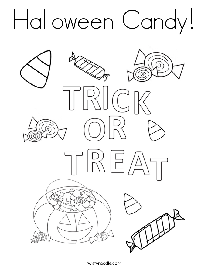 685x886 Halloween Candy Coloring Page