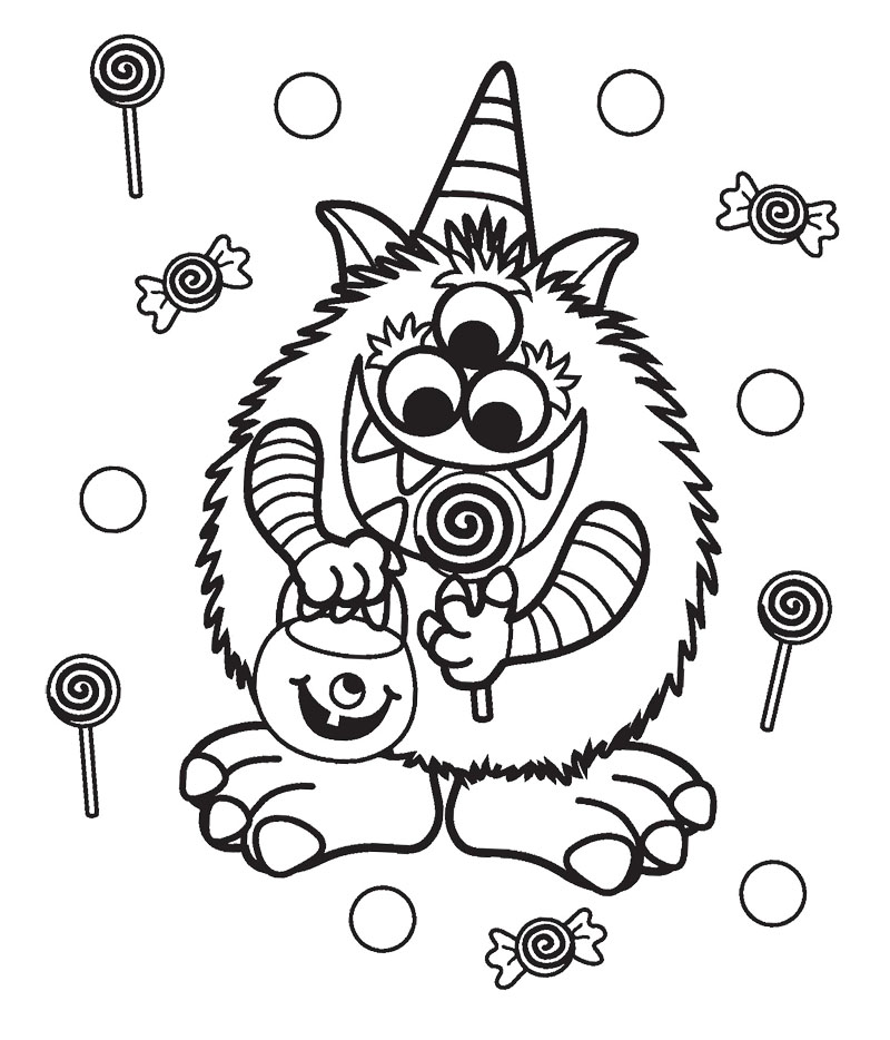 800x934 Halloween Candy Coloring Pages