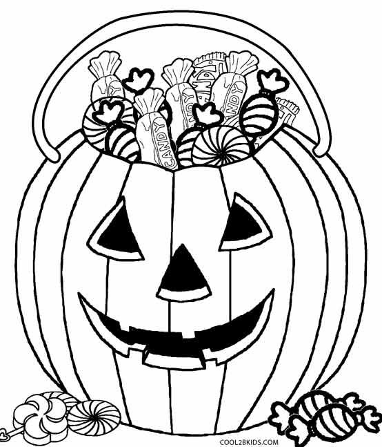 554x647 Halloween Candy Coloring Pages
