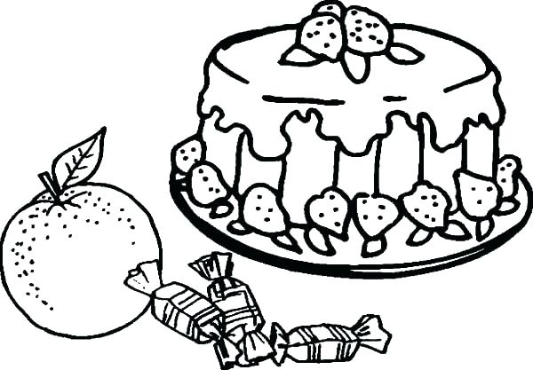 600x417 Candy Coloring Page Candy Color Pages Also Fruity Cake And Candy