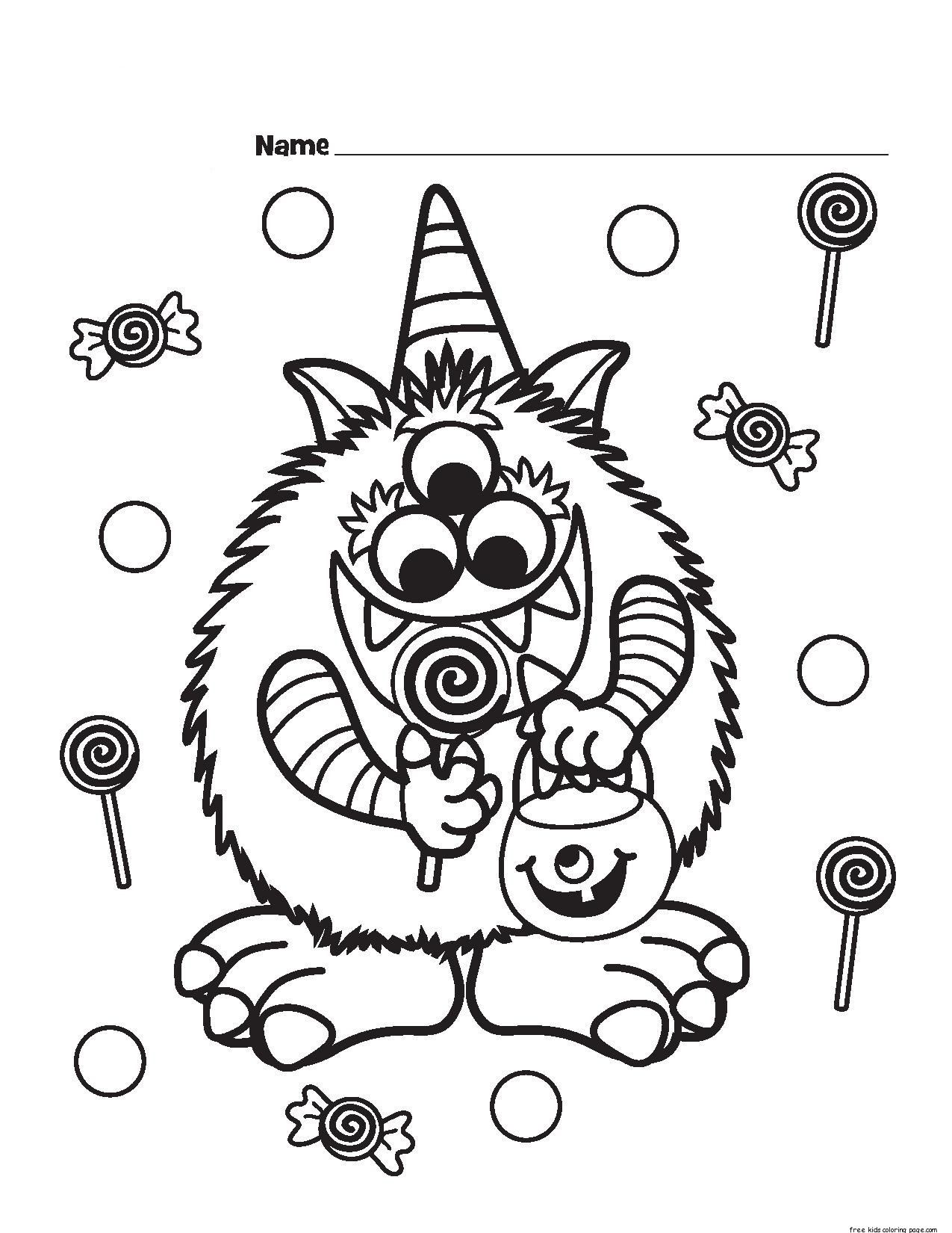 1275x1650 Print Out Halloween Candy Critter Coloring Page For Kidsfree