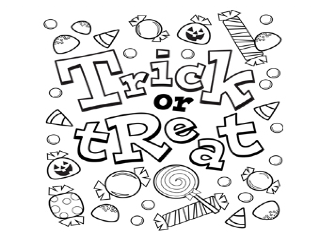 1280x960 Free Printable Halloween Coloring Pages High Definition