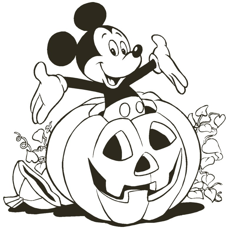 778x778 Free Disney Halloween Coloring Pages