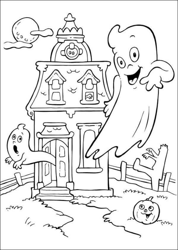 600x840 Halloween Cartoon Coloring