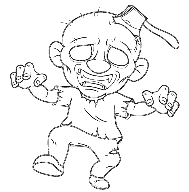 657x667 Halloween Zombie Coloring Pages