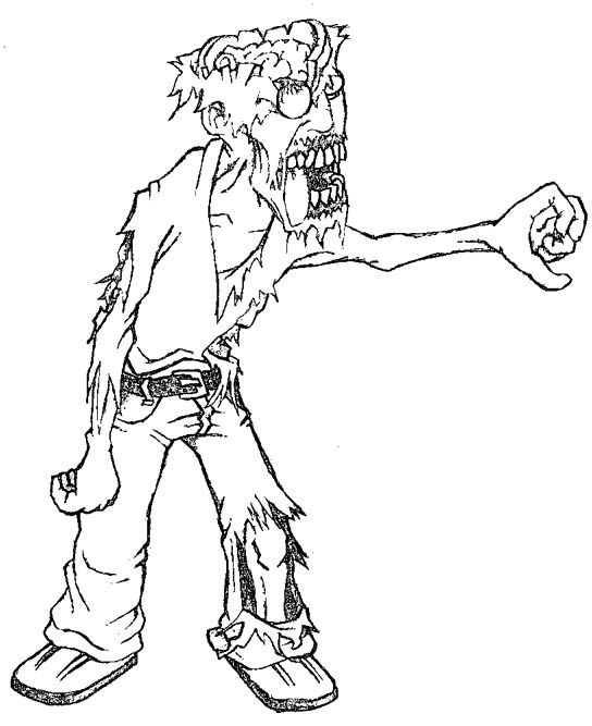544x667 Zombies Are Scary Coloring Pages