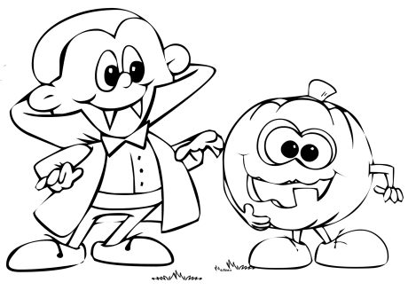 460x345 Cartoon Halloween Coloring Pages Monster Coloring Pages