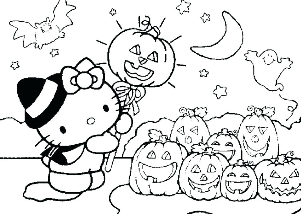 957x682 Cartoon Halloween Coloring Pages Cartoon Characters For Colouring