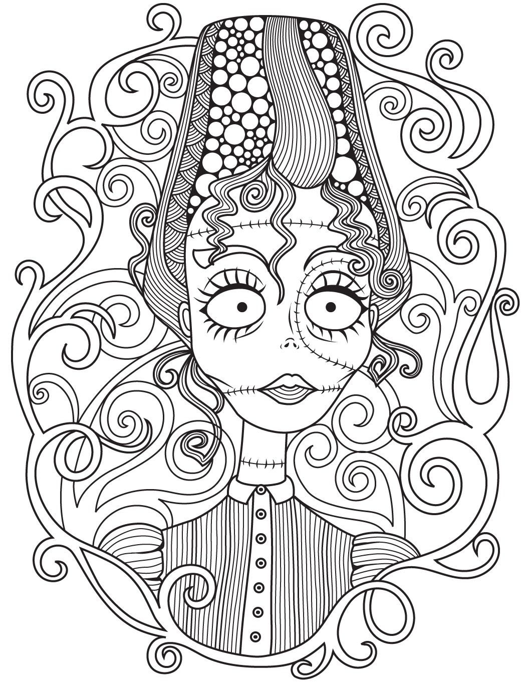 1058x1369 Halloween Coloring Page Colorish Free Coloring App For Adults