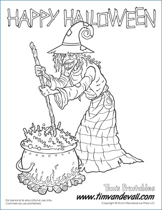 325x421 Halloween Coloring Pages For Toddlers