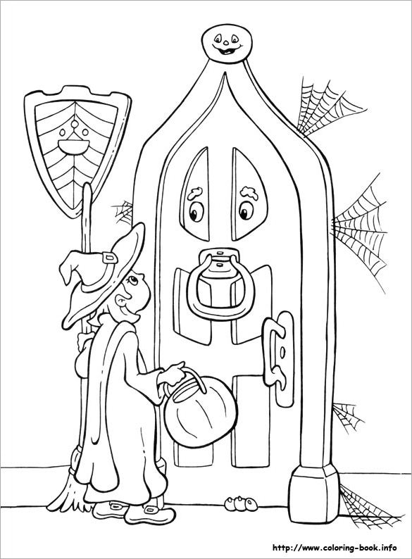 585x794 Halloween Coloring Pages