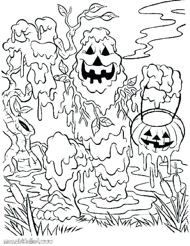 738x954 Halloween Coloring Pages For Kids Icontent