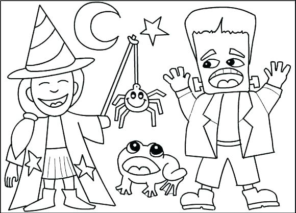 580x417 Halloween Coloring Pages Printable Icontent