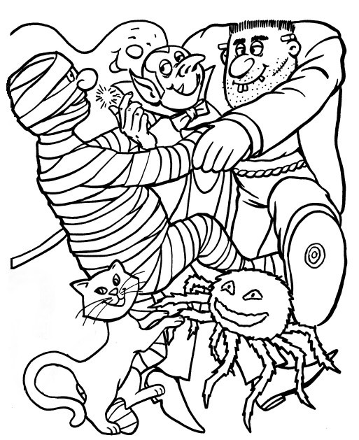 513x629 Halloween Monster Coloring Pages Halloween Monster Coloring Page