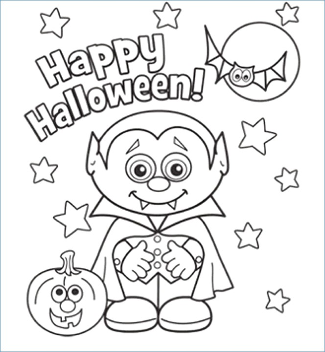 664x720 Halloween Coloring Pages Preschoolers